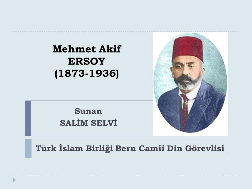 Türk İslam Birliği Bern Camii Din Görevlisi