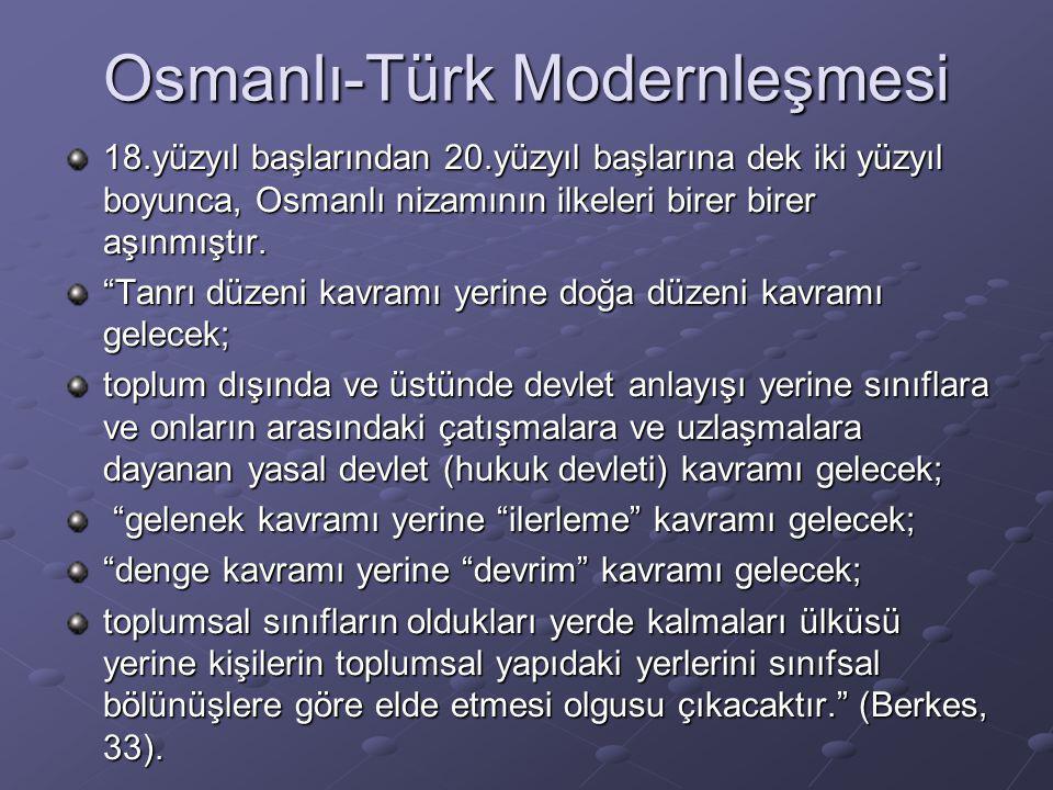 Osmanlı-Türk Modernleşmesi