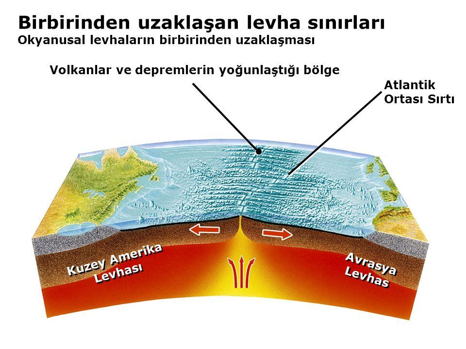 Volkanlar ve depremlerin yoğunlaştığı bölge