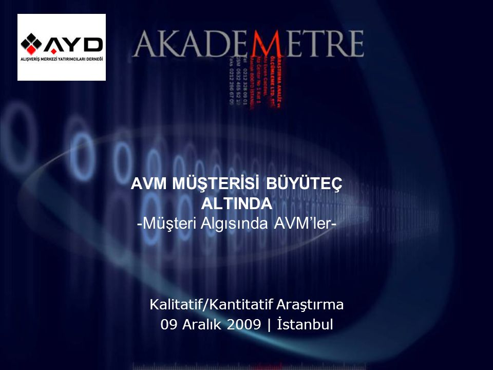 1 Akademetre Research & Strategic Planning: