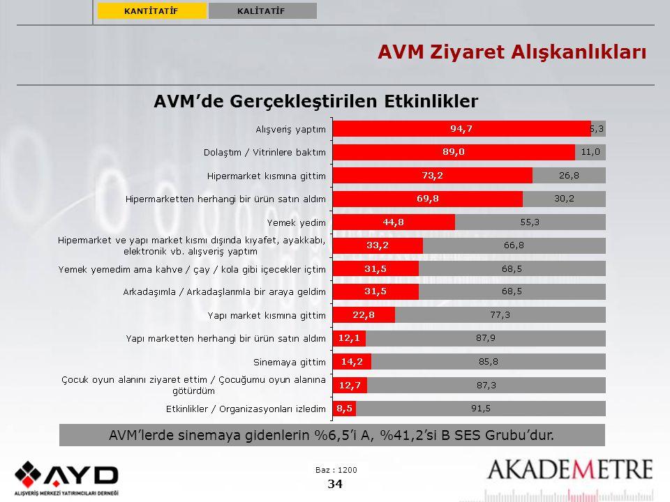 AVM Ziyaret Alışkanlıkları