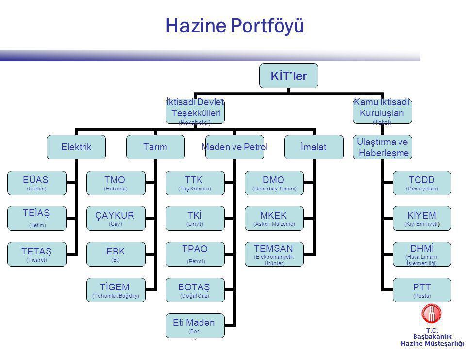 Hazine Portföyü 233 Sayılı KHK 8. Maddesi çerçevesinde yurtdışında kurulan Şirketler: TPAO ve BOTAŞ'a ait şirketler.