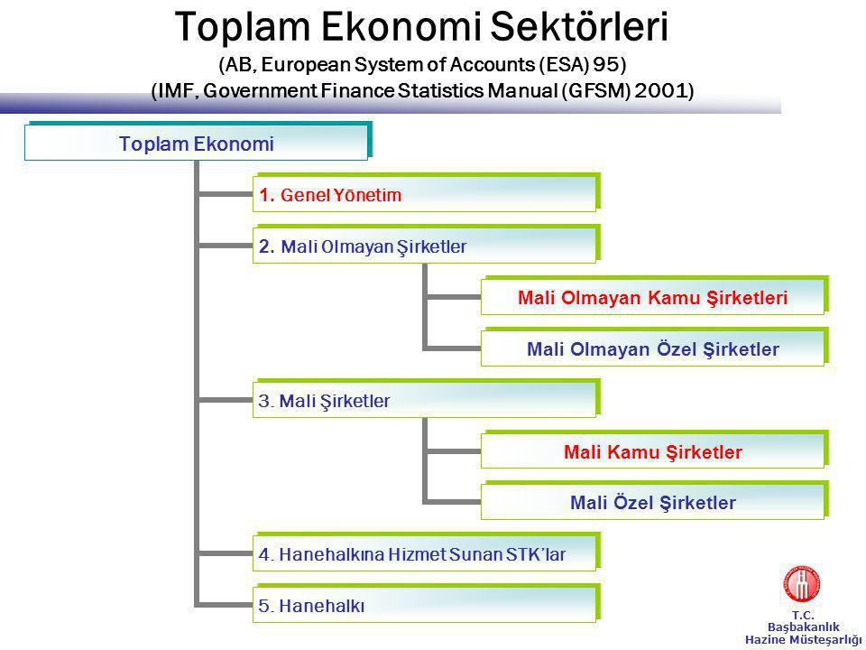Toplam Ekonomi Sektörleri (AB, European System of Accounts (ESA) 95) (IMF, Government Finance Statistics Manual (GFSM) 2001)