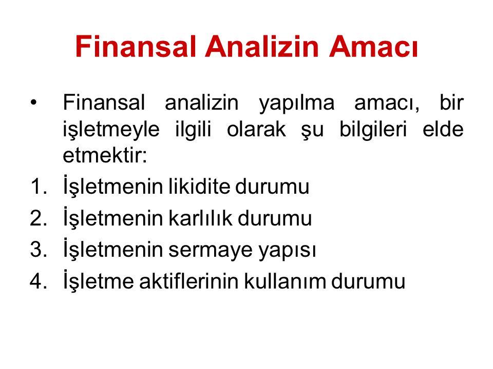 Finansal Analizin Amacı