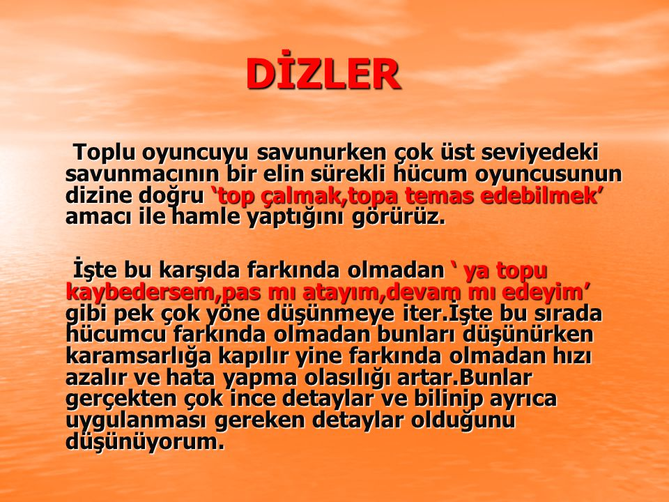 DİZLER