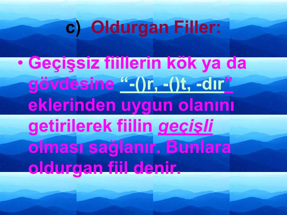 c) Oldurgan Filler: