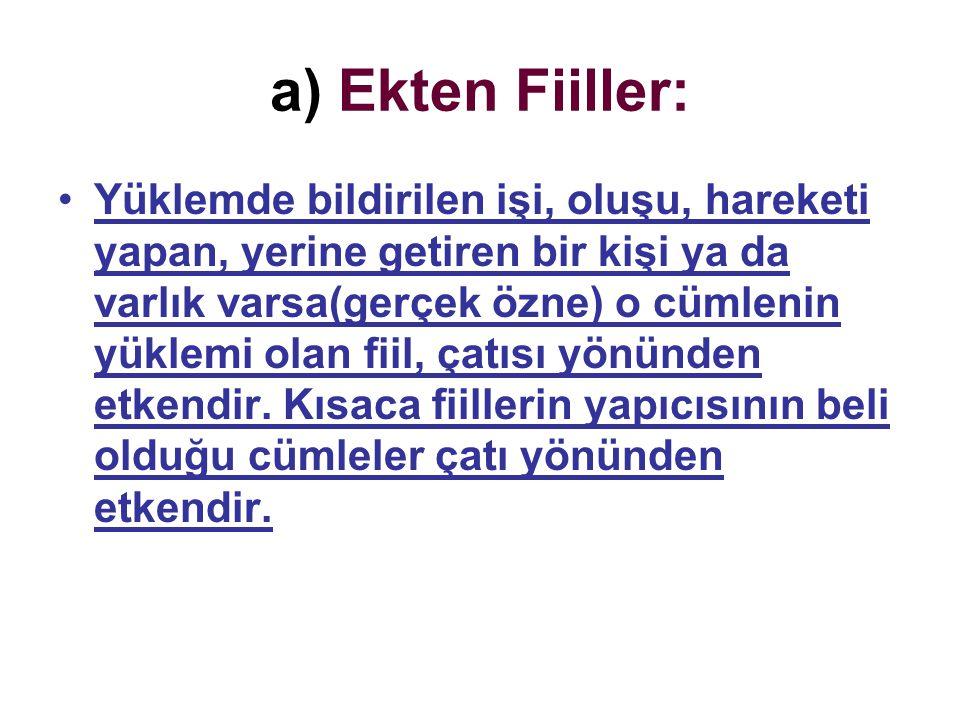 a) Ekten Fiiller: