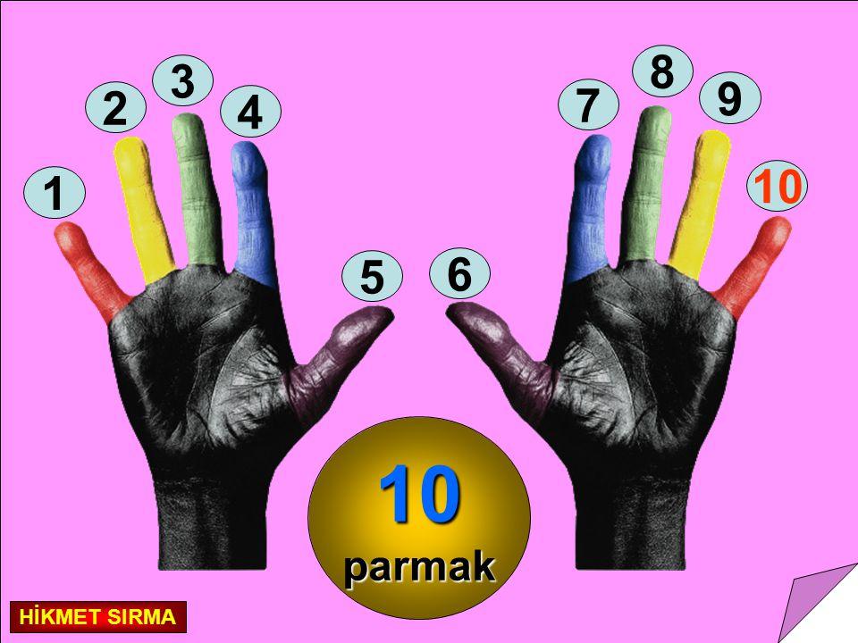 8 3 9 2 7 4 10 1 5 6 10 parmak HİKMET SIRMA