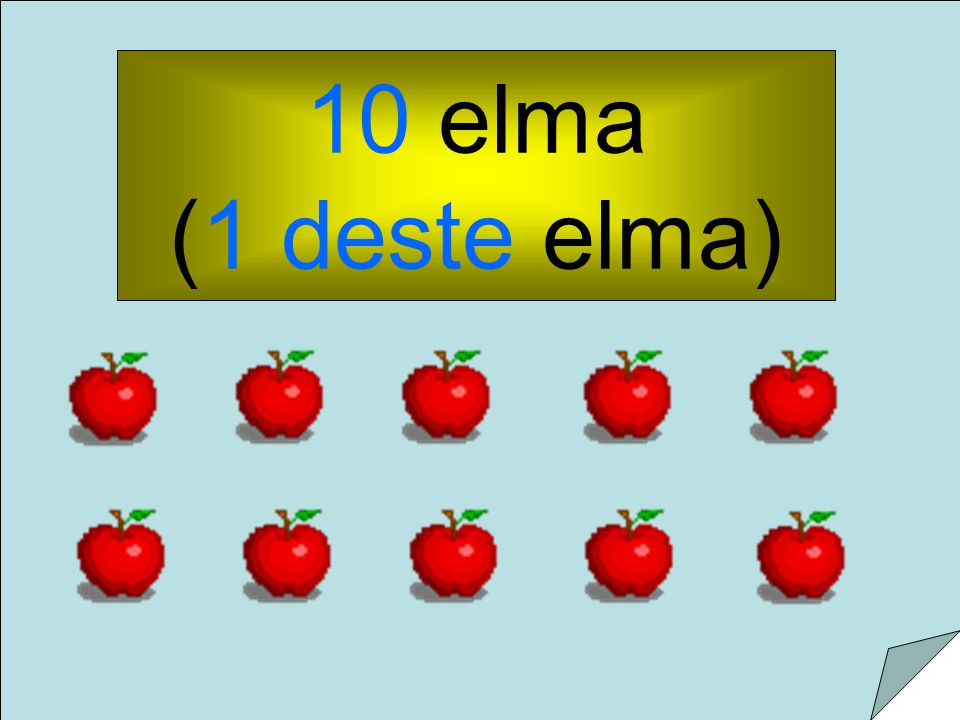 10 elma (1 deste elma)