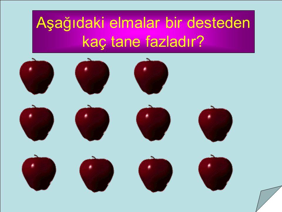 Aşağıdaki elmalar bir desteden