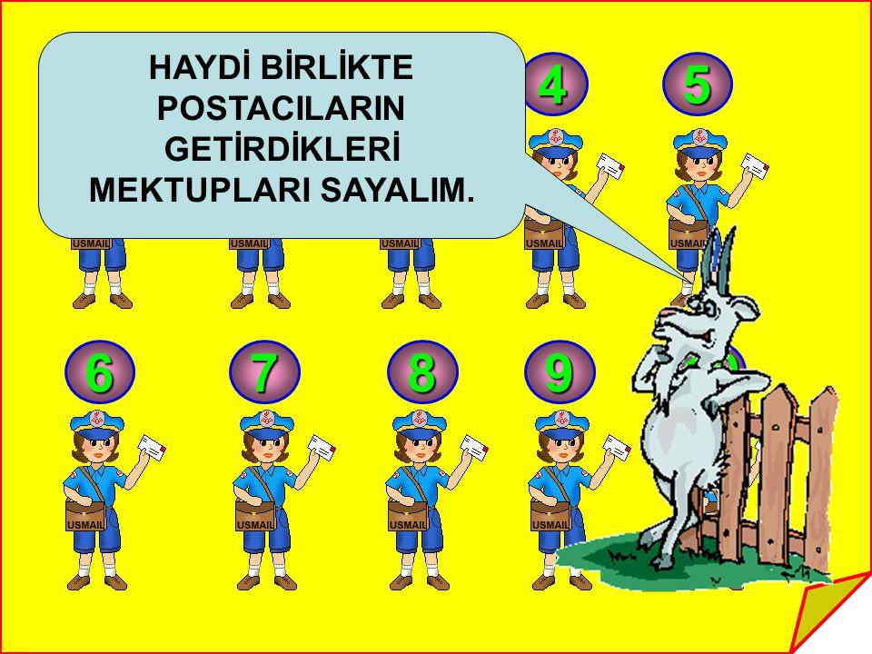 POSTACILARIN GETİRDİKLERİ MEKTUPLARI SAYALIM.