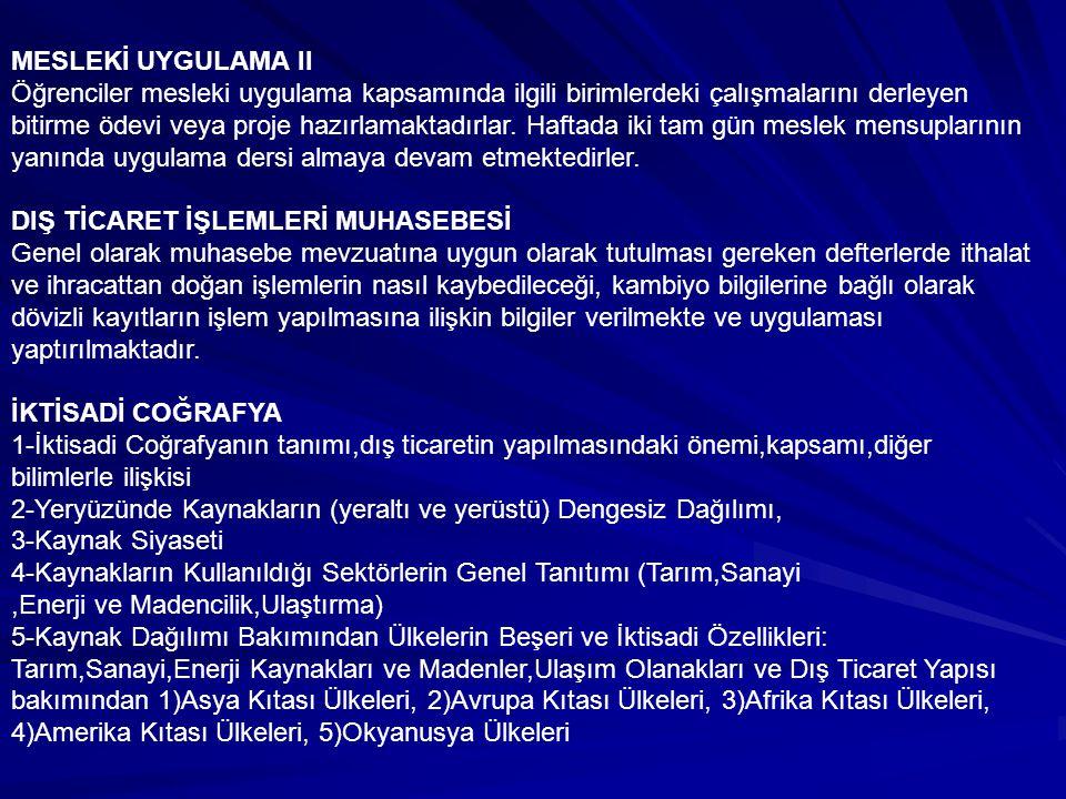 MESLEKİ UYGULAMA II