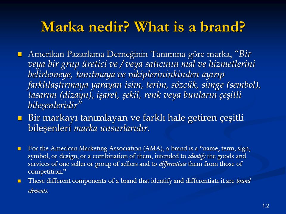 Marka nedir What is a brand