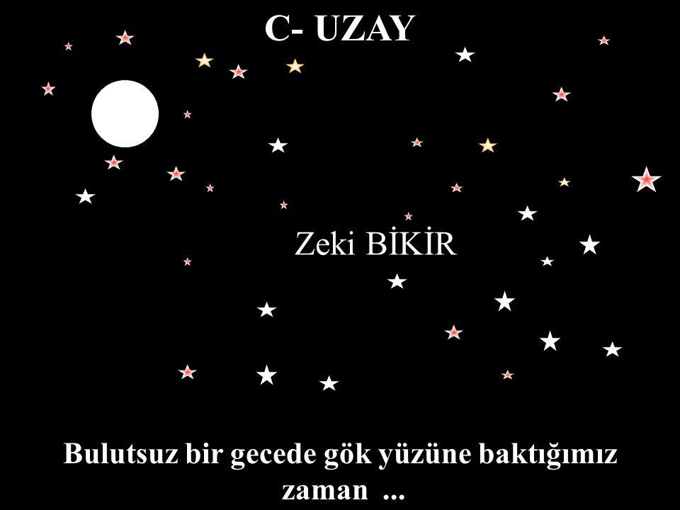Bulutsuz bir gecede gök yüzüne baktığımız