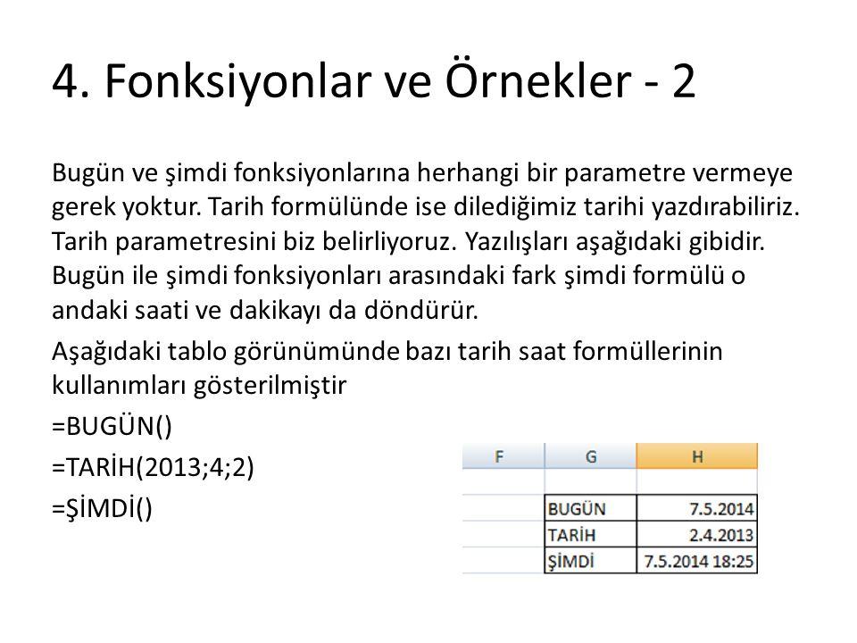 4. Fonksiyonlar ve Örnekler - 2