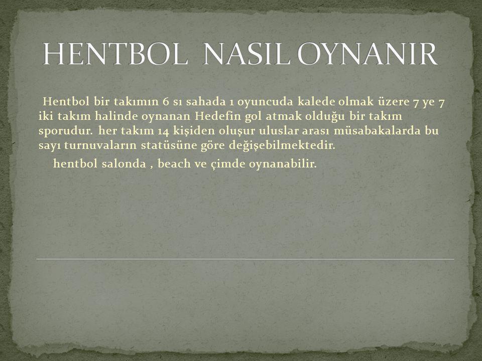 HENTBOL NASIL OYNANIR