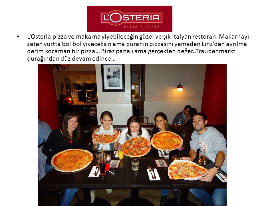 L'Osteria pizza ve makarna yiyebileceğin güzel ve şık İtalyan restoran