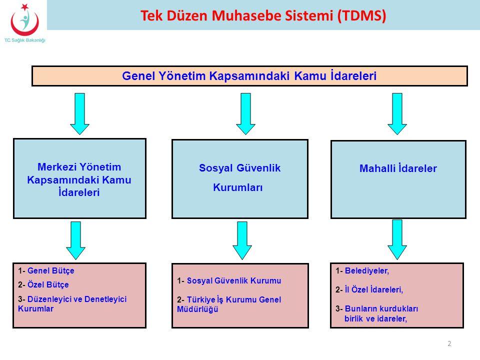 Tek Düzen Muhasebe Sistemi (TDMS)