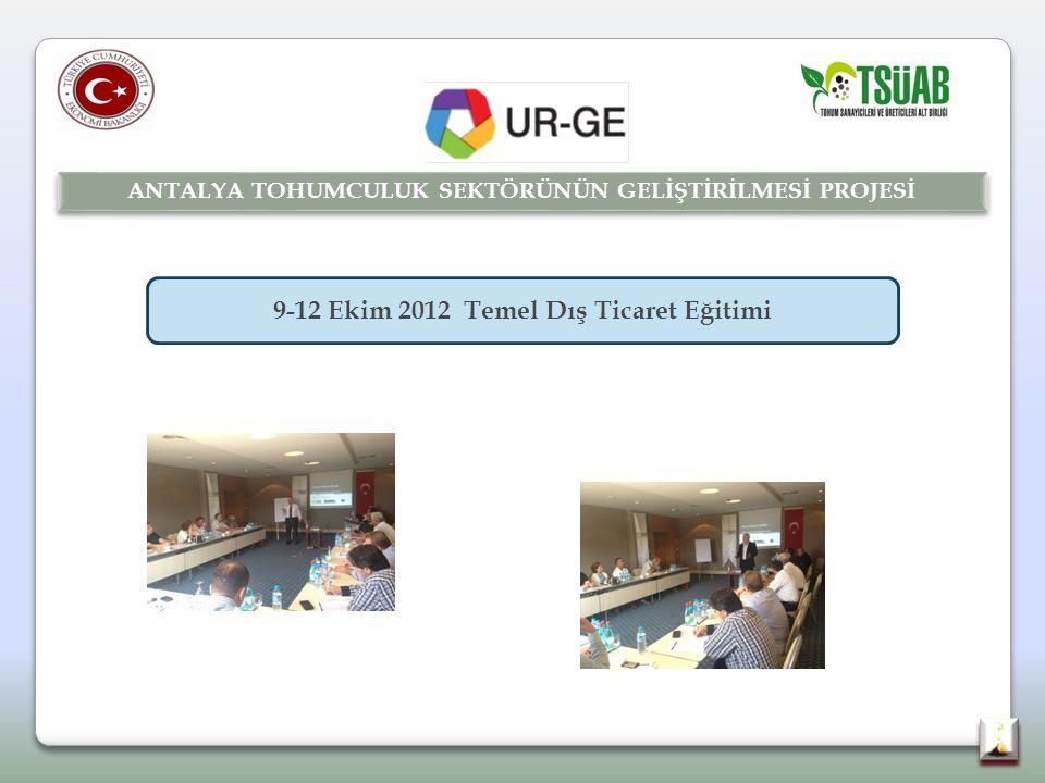 9-12 Ekim 2012 Temel Dış Ticaret Eğitimi