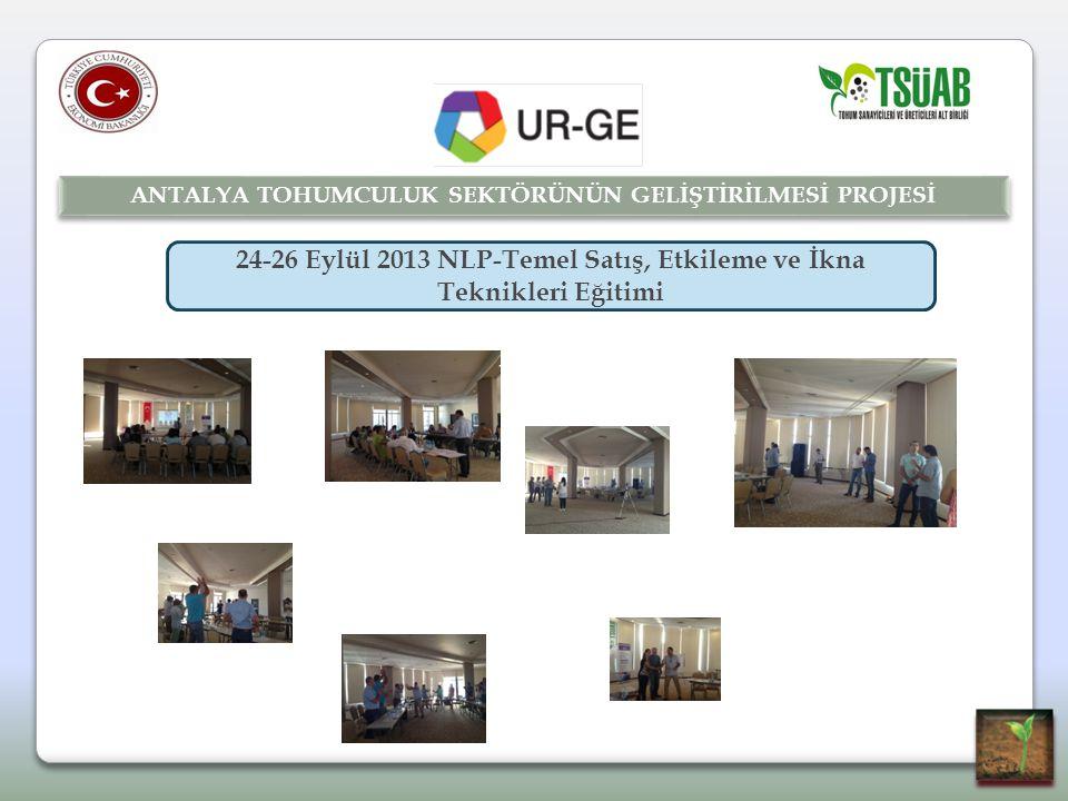 24-26 Eylül 2013 NLP-Temel Satış, Etkileme ve İkna Teknikleri Eğitimi