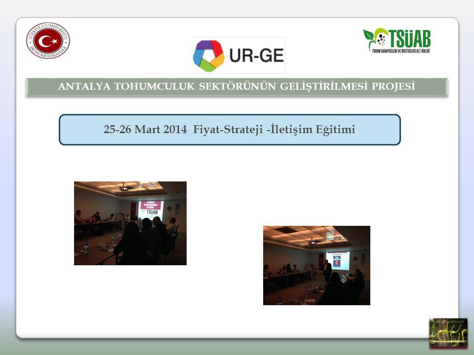 25-26 Mart 2014 Fiyat-Strateji -İletişim Eğitimi