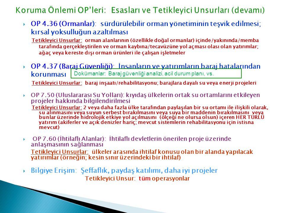 Koruma Önlemi OP'leri: Esasları ve Tetikleyici Unsurları (devamı)