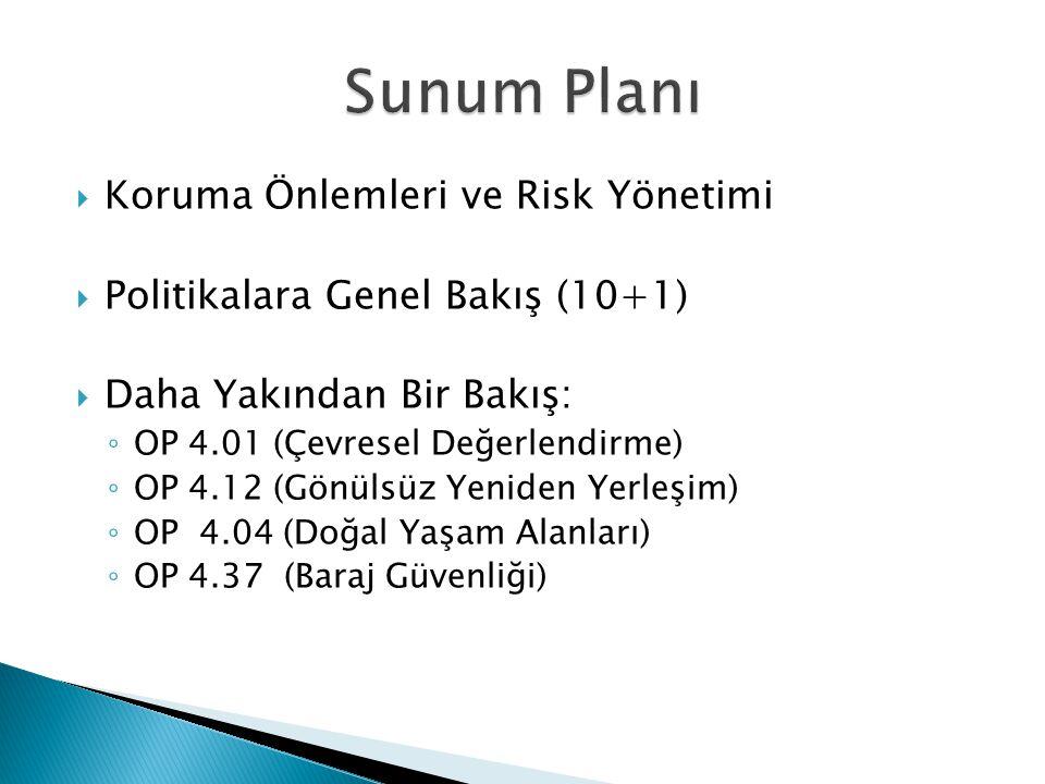Sunum Planı Koruma Önlemleri ve Risk Yönetimi