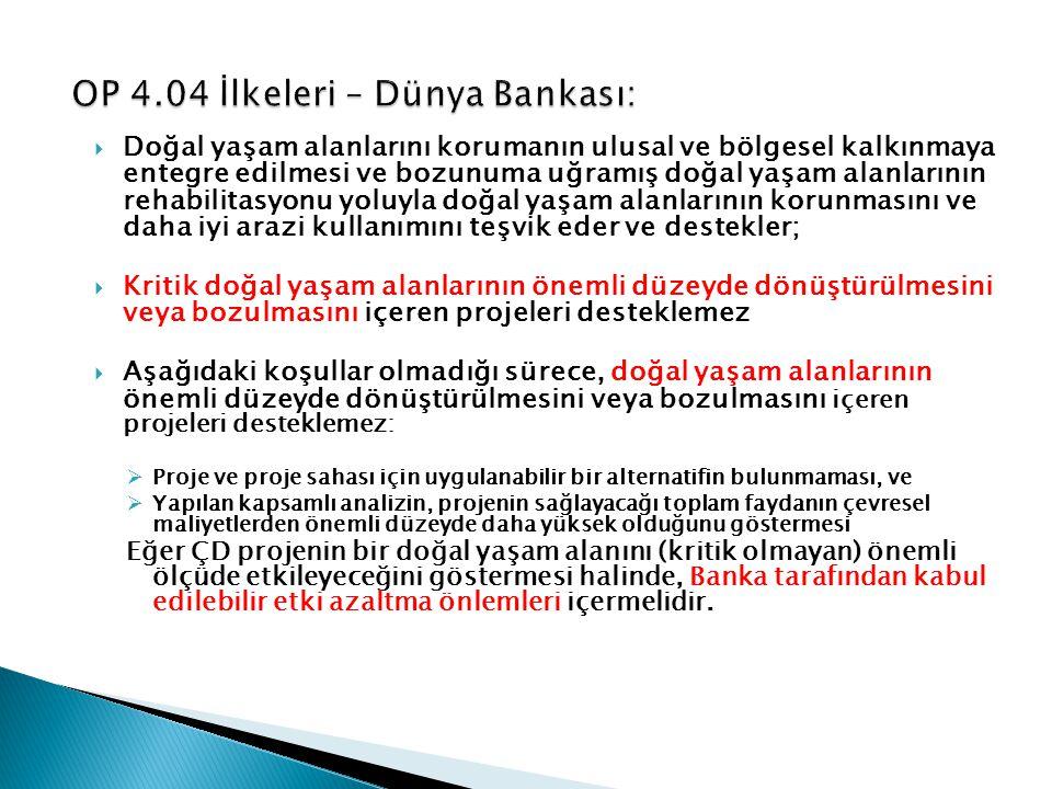 OP 4.04 İlkeleri – Dünya Bankası: