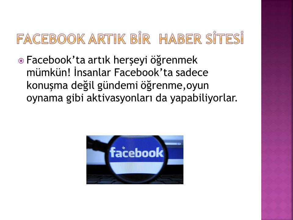 Facebook arTIK BİR HABER SİTESİ