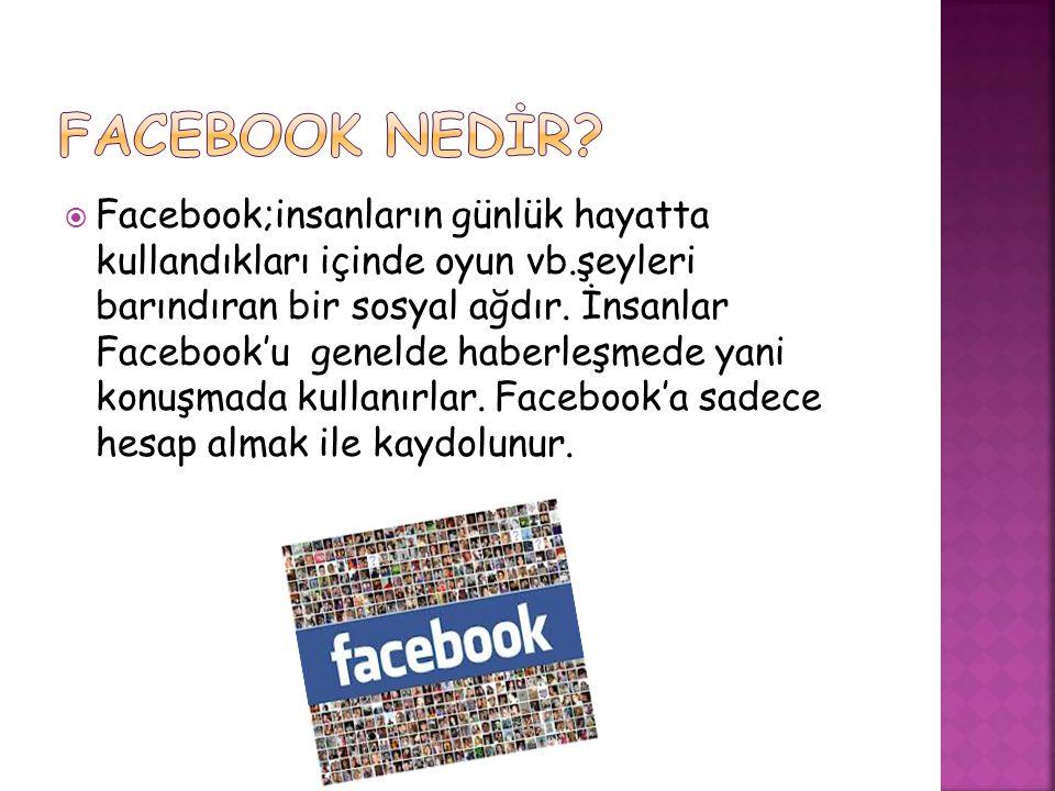 FACEBOOK NEDİR