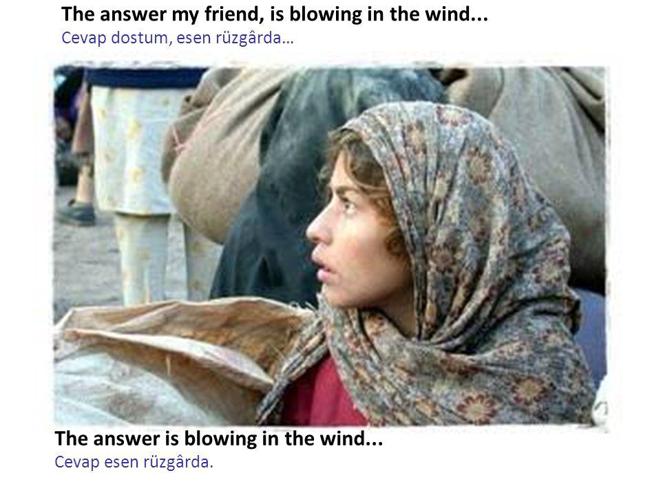 The answer my friend, is blowing in the wind...