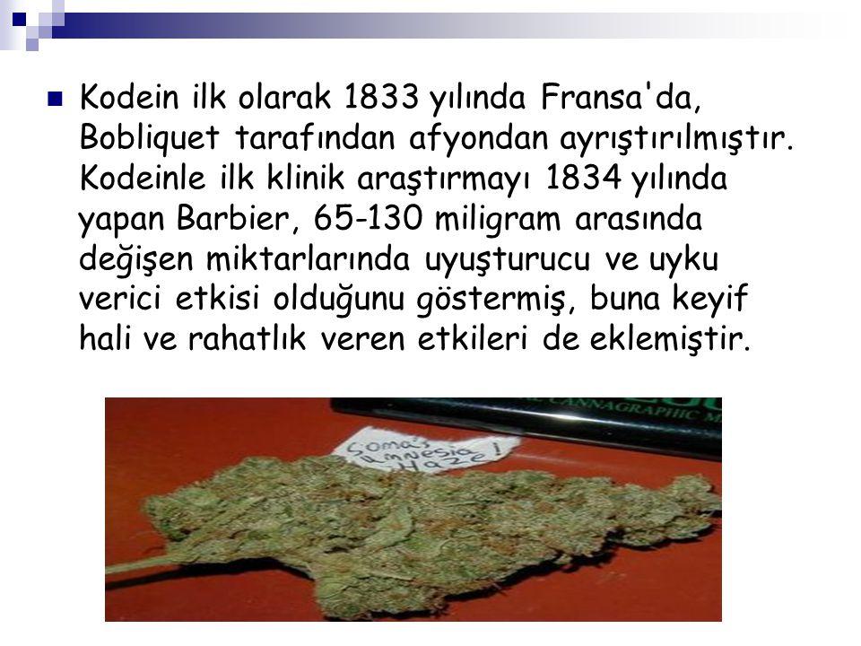 Kodein ilk olarak 1833 yılında Fransa da, Bobliquet tarafından afyondan ayrıştırılmıştır.