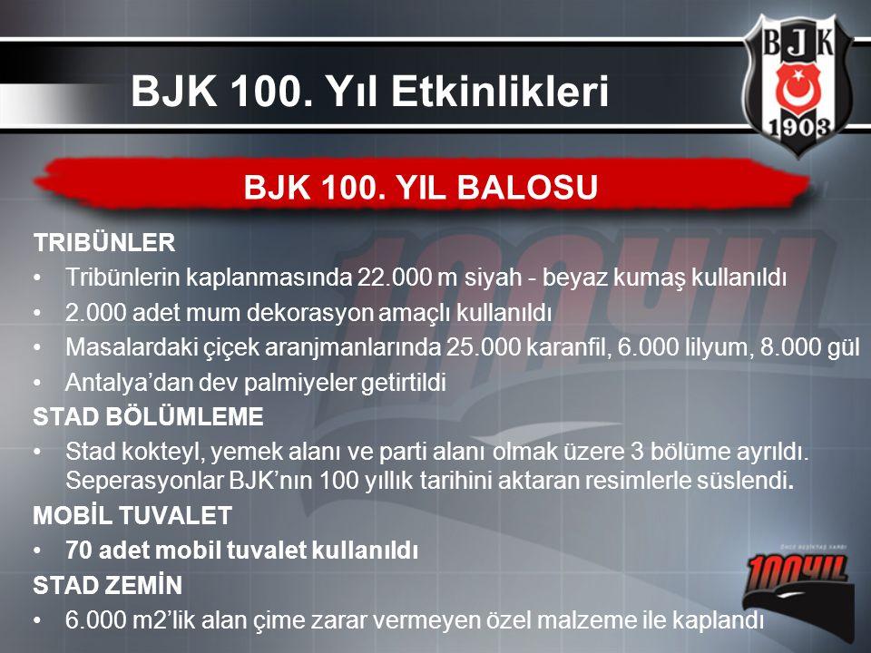 BJK 100. Yıl Etkinlikleri BJK 100. YIL BALOSU TRIBÜNLER