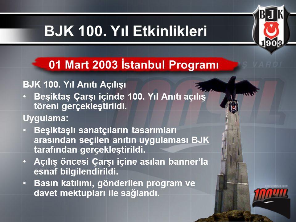 01 Mart 2003 İstanbul Programı