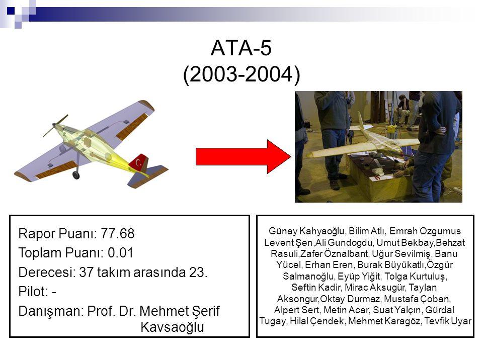 ATA-5 (2003-2004) Rapor Puanı: 77.68 Toplam Puanı: 0.01
