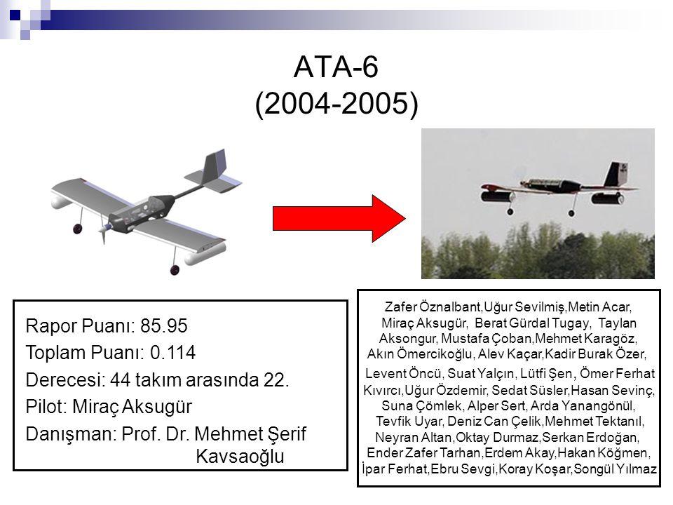 ATA-6 (2004-2005) Rapor Puanı: 85.95 Toplam Puanı: 0.114