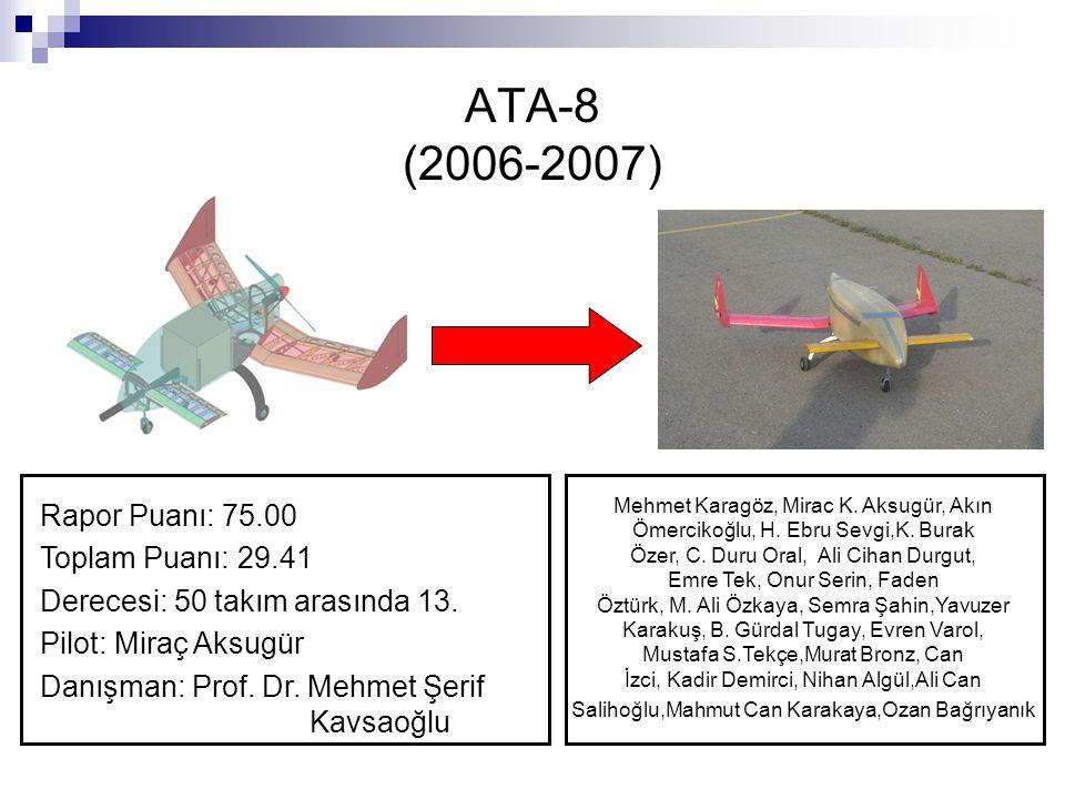 ATA-8 (2006-2007) Rapor Puanı: 75.00 Toplam Puanı: 29.41
