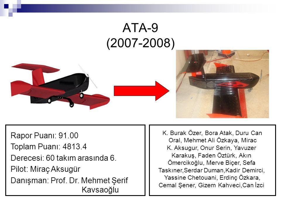ATA-9 (2007-2008) Rapor Puanı: 91.00 Toplam Puanı: 4813.4