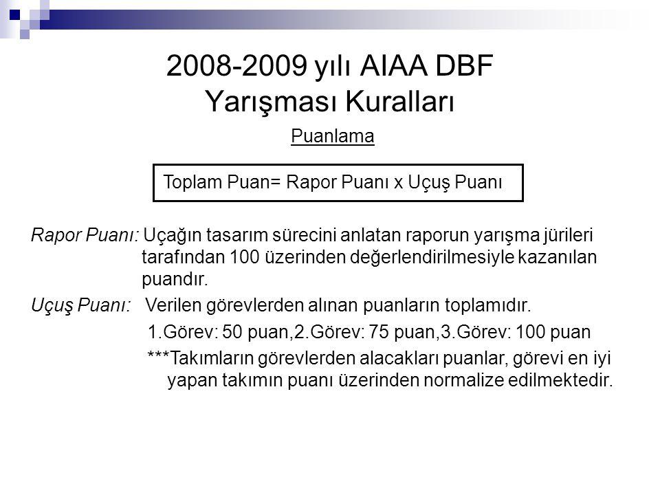 2008-2009 yılı AIAA DBF Yarışması Kuralları