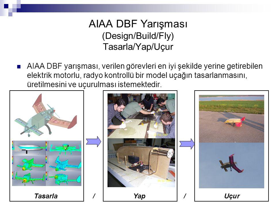 AIAA DBF Yarışması (Design/Build/Fly) Tasarla/Yap/Uçur