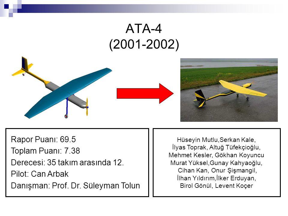 ATA-4 (2001-2002) Rapor Puanı: 69.5 Toplam Puanı: 7.38