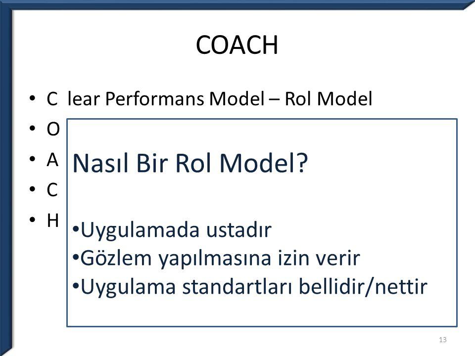 COACH Nasıl Bir Rol Model Uygulamada ustadır