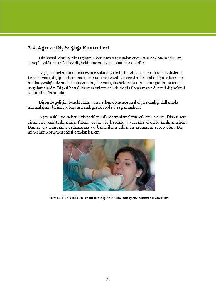 3.4. Ağız ve Diş Sağlığı Kontrolleri