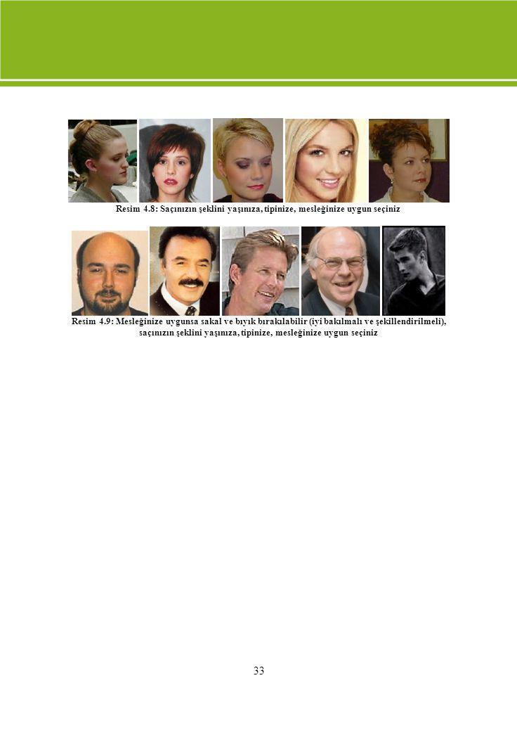 Resim 4.8: Saçınızın şeklini yaşınıza, tipinize, mesleğinize uygun seçiniz