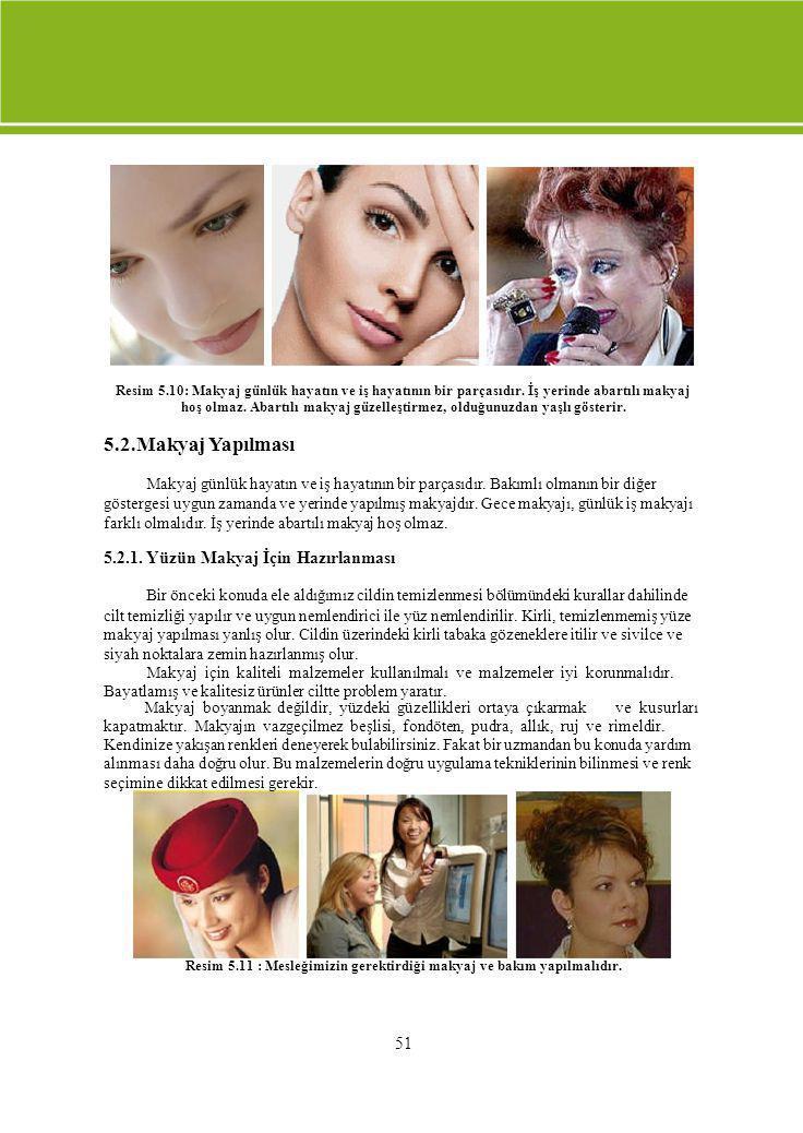 Resim 5. 10: Makyaj günlük hayatın ve iş hayatının bir parçasıdır