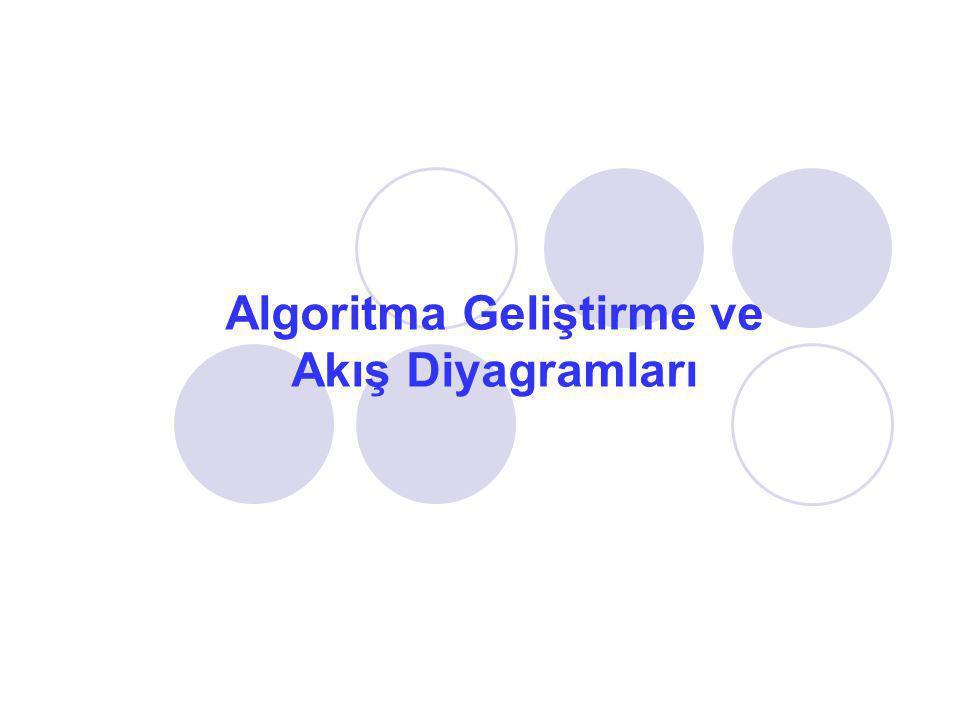 Algoritma Geliştirme ve Akış Diyagramları