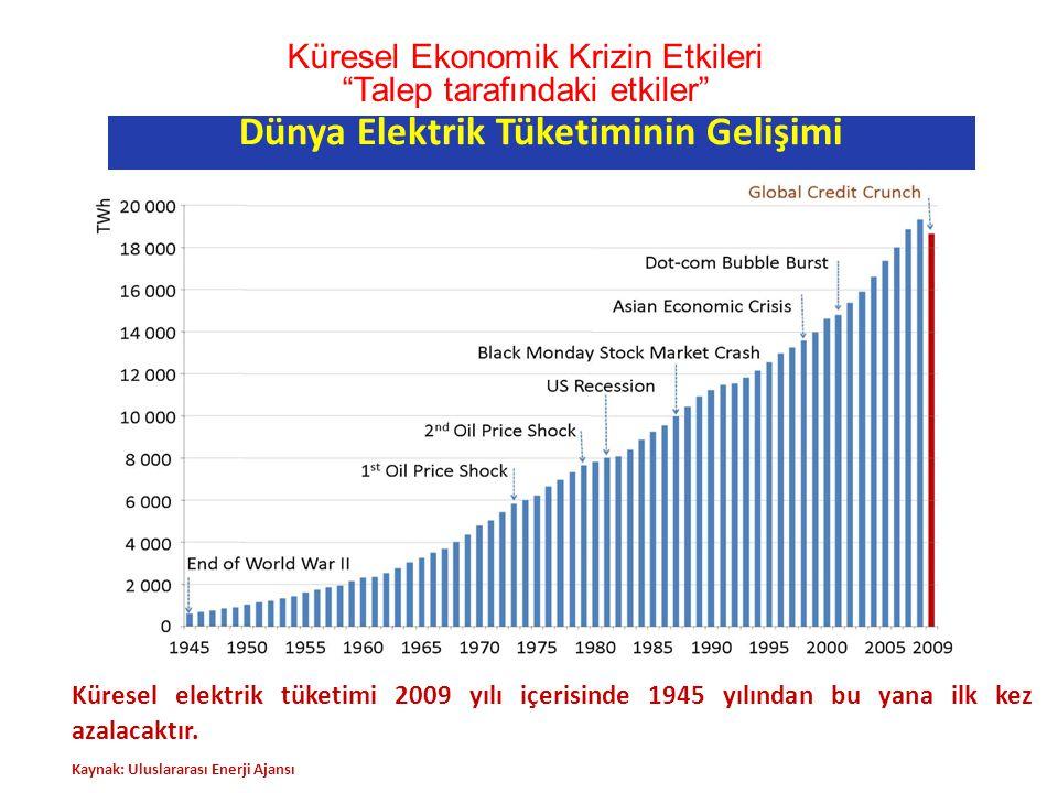 Dünya Elektrik Tüketiminin Gelişimi