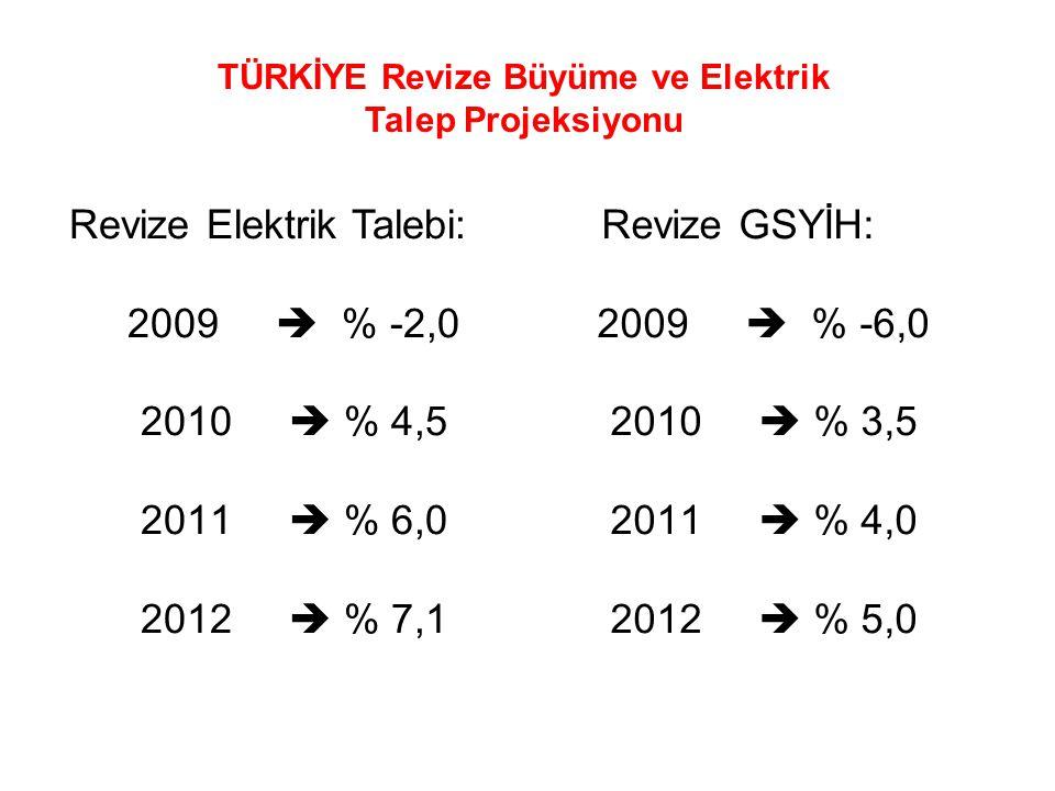 TÜRKİYE Revize Büyüme ve Elektrik Talep Projeksiyonu