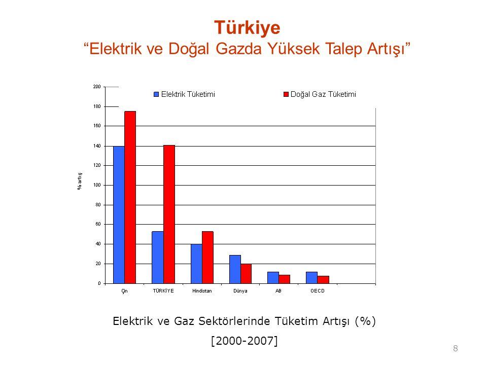 Türkiye Elektrik ve Doğal Gazda Yüksek Talep Artışı