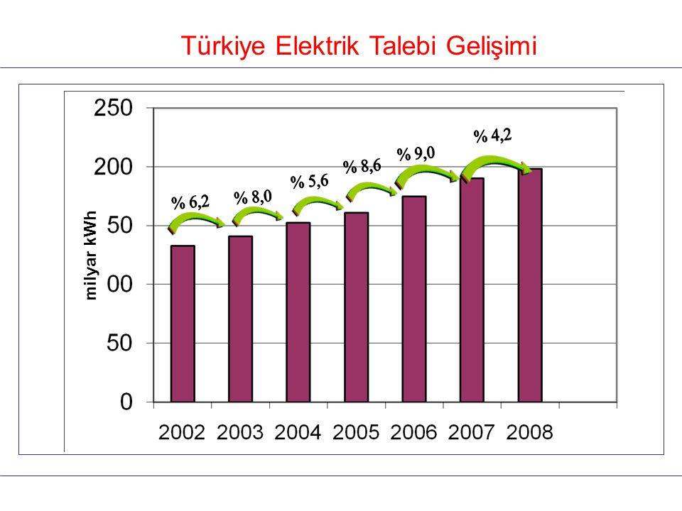 Türkiye Elektrik Talebi Gelişimi